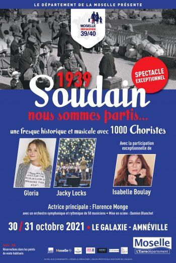 Affiche 1939 spectacle danse chant choristes Le galaxie d'amnéville